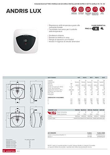 Ariston-3100353-Andris-Lux-Eco-Elektrischer-Durchlauferhitzer-Anbringung-ueber-dem-Waschbecken-EU-Standard-30-Liter