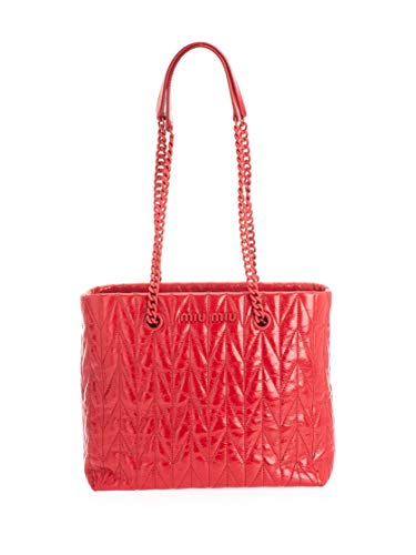 Miu Miu Luxury Fashion Damen 5BG1922D6CF0011 Rot Leder Handtaschen | Frühling Sommer 20