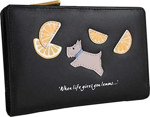Radley Lemons Geldbörse aus Leder, mittelgroß, Schwarz