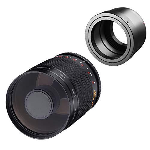 Samyang MF 500mm F8.0 - Objetivo de Espejo Nikon 1 - DSLR, teleobjetivo CSC, Enfoque Manual, diámetro del Filtro 72mm, para Formato Completo y APS-C