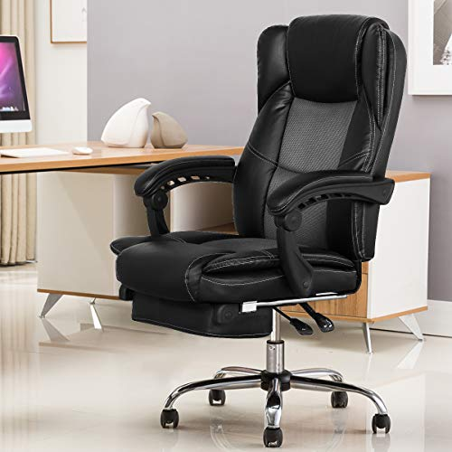 B2C2B Ergonomic Reclining Office Chair High Back Napping Desk Chair Computer Chair Leather Chair...