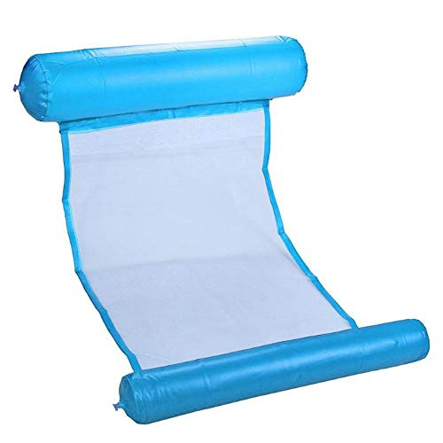 Light Blue - Air Mattress Foldable Swimming Pool Beach Inflatable Float Water Hammock Inflatable Water Rafts Floating Chair