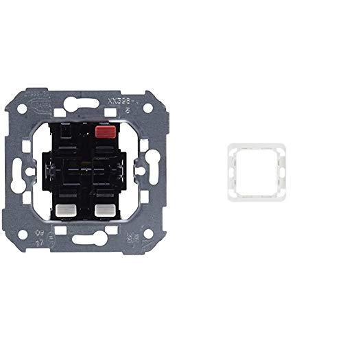 Simon 75398-39Conjunto de 2 interruptores, 10AX, 250V con sistema de conexión de terminal rápido +75900-39 pieza intermedia s-75 blanco nieve Ref. 6557590001