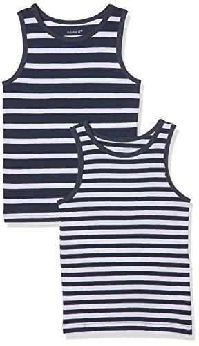 NAME IT NAME IT Baby-Jungen NMMTANK TOP 2P NOOS Unterhemd, Mehrfarbig (Dress Blues), 86 (2er Pack)