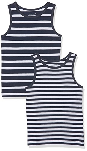 NAME IT NAME IT Baby-Jungen NMMTANK TOP 2P NOOS Unterhemd, Mehrfarbig (Dress Blues), 86 (2er Pack)