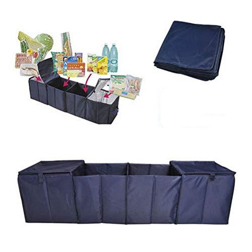 GYC Tragbares Home-Office-Kofferraum-Finishing-Paket, Faltbare 4-Gitter-Mehrfach-Aufbewahrungsbox für Kühlboxen, 115 & mal; 30 & mal; 30 cm