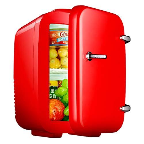 Mini congelador portátil de 10L, refrigerador eléctrico Refrigerador de Viaje portátil con Nevera, Mini congelador Refrigerador pequeño Familiar de Auto hogar de Uso Doble para el hogar Caliente