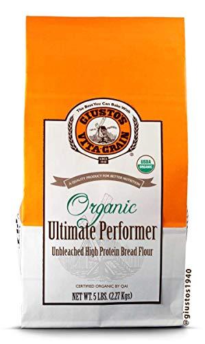 Giusto's Vita-Grain Organic Ultimate Performer Unbleached Flour, 5lb Bag