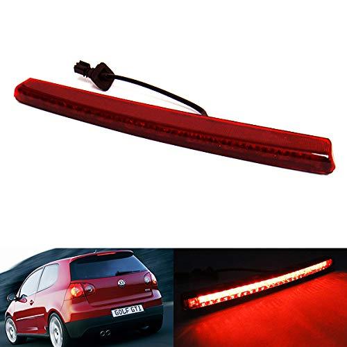 Lente roja LED trasero de alto nivel centro tercera luz de freno para 2004 – 09 Volks Golf V GTI R32 R Line Polo 9N Passat 3C5 R36