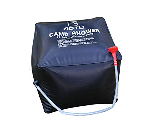 Best Prices! Solar Shower Bag Camping Shower 10 gallons/40L Solar Heating Bag with Removable Hose an...