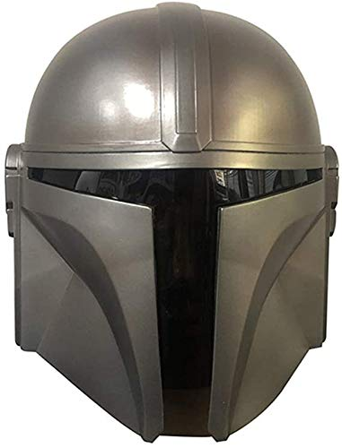 Herbests Mandalorian Helm Erwachsene, Latex Voller Kopf Helm Mandalorian Helm Star...