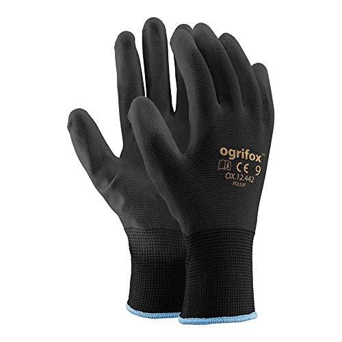 Ogrifox OX-Poliur_Bb9 Schutzhandschuhe, OX.12.442 Poliur, Schwarz-Schwarz, 9 Größe, 24 Stück