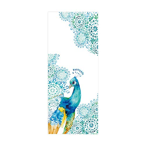 PVC Waterproof Door Stickers, Painted Peacock Home Decoration Door Stickers, self-Adhesive Wall Stickers, Easy to Install, Environmentally Friendly and Durable