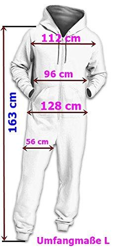 Crazy Age Basic Jumpsuits Ganzkörperanzug Einteiler One Piece Overall (XL=42, Dunkelblau) - 3
