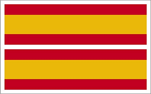 Artimagen Pegatina Bandera Rectángulo España 2 uds. 70x20 mm/ud.