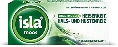 Isla moos Spar-Set 2x30Pastillen. Lindert Heiserkeit, Hals- und Hustenreiz. Mit pflanzlichen Wirkstoffen. Vegan.