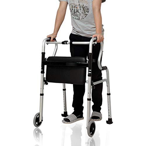2-in-1 Rollator mit Sitz, Badezimmer Sicherheits-Stützrahmen, älteren Assisted Gehen, Faltbare Walker for Senioren