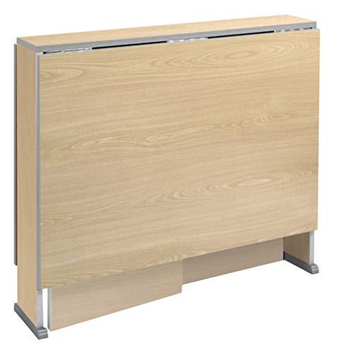 Suarez - Mesa swing alas abatibles, medidas 80 x 75/135 x 75 cm, color haya