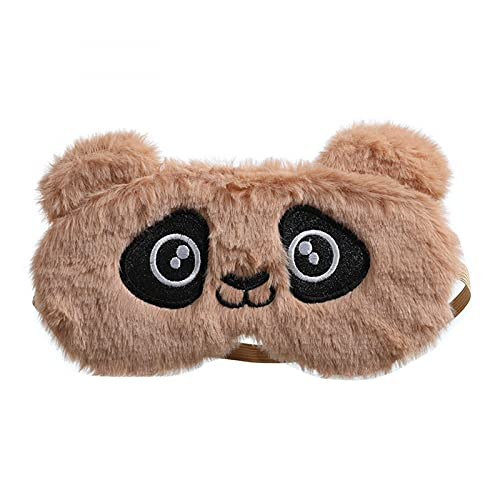 N\C Máscara de ojos de panda para mujer, suave y plegable, ideal para viajes