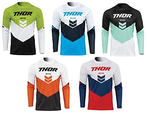 Thor CHEV Sector21 - Camiseta (rojo/azul marino, 2XL)
