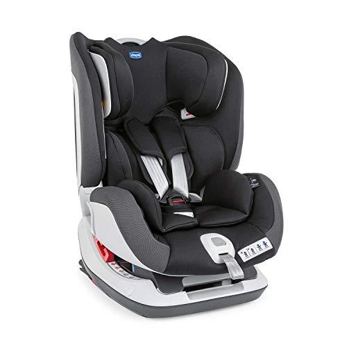 Chicco Seat Up 012 Seggiolino Auto 0-25 kg Reclinabile ISOFIX, Gruppo 0+/1/2 Bambini 0-6 Anni, Facile da Installare, Cuscino Riduttore, Poggiatesta Regolabile, Imbottiture Morbide - Jet Black, Nero