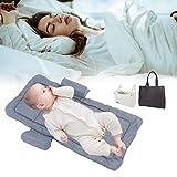 Cocoarm Baby Nest Neugeborenen Kissen Babybett Schlaf Reisebett Kleinkind Tragbare Waschbare Bettmatratze Neugeborene Liege Wickel Wickel Säuglingstasche mit Handtasche Tasche für Neugeborene Bett