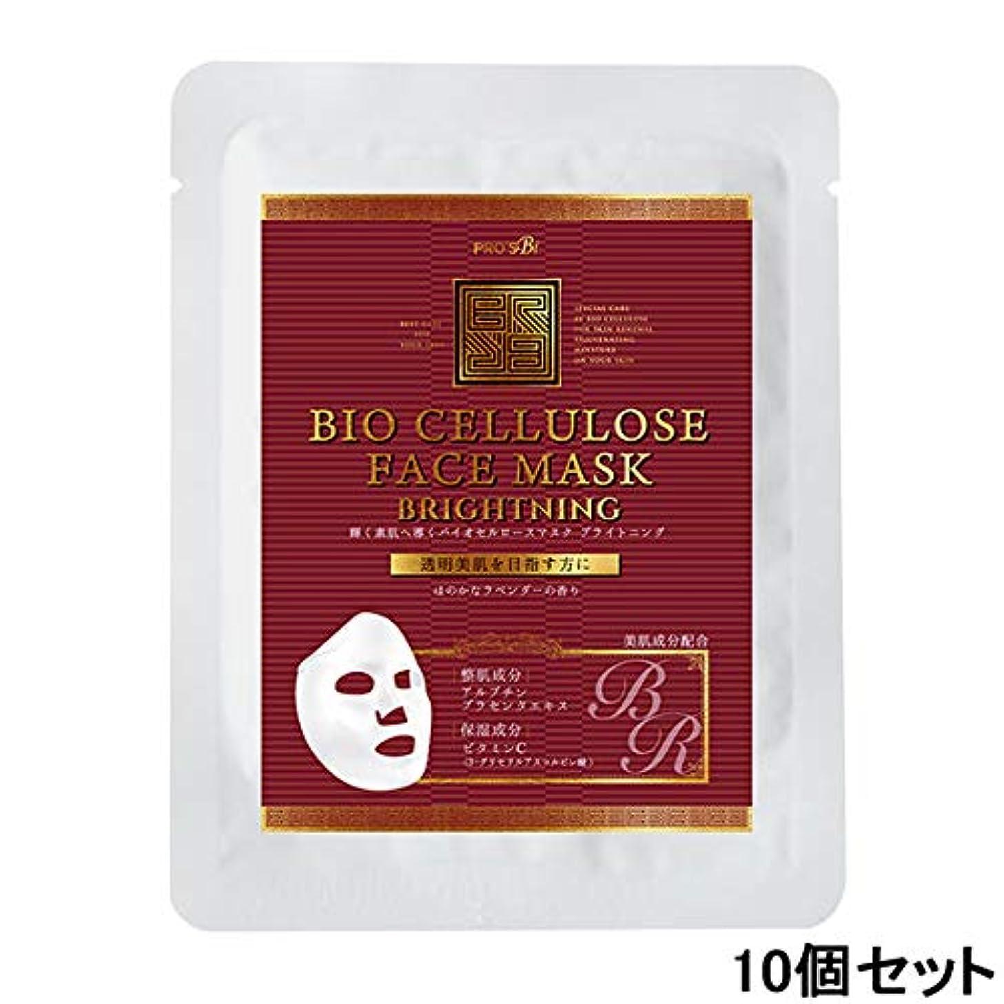 びっくりした名前尊厳プロズビ バイオセルロースマスク ブライトニング (10個セット) [ フェイスマスク フェイスシート フェイスパック フェイシャルマスク シートマスク フェイシャルシート フェイシャルパック ローションマスク ローションパック 顔パック ]