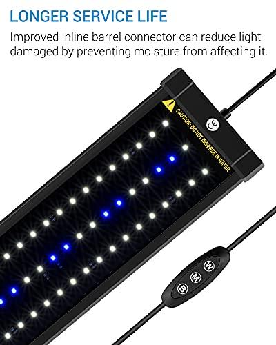 NICREW ClassicLED Aquarium Light, Fish Tank Light with Extendable Brackets, 48-Inch, 32 Watts