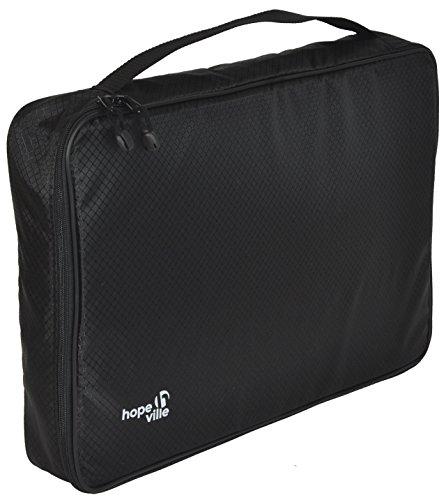 HOPEVILLE Hemdentasche für knitterfreie und faltenfreie Hemden, T-Shirts und Blusen, Premium Kleidertasche für den sicheren Transport im Koffer, Reisetasche oder Handgepäck