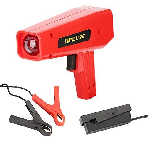 BMOT Zündlichtpistole Zündzeitpunktpistole Stroboskoplampe Blitzpistole Zündung 12V, mit Robusten Krokodilklemmen