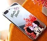 Générique Coque iPhone 7 et iPhone 8 Minnie Mickey Mouse Effet Miroir Design Rose...