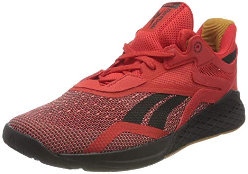 Reebok Herren Nano X Cross Trainer Schuhe, Instinct Red/Black/White, 45 EU