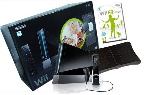 Wii Noire + Wii Fit Plus + Wii Motion noir