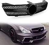Coche Rejillas frontales de radiador para Mercedes Benz W219 CLS500 SLS600 CLS Class 2004 2005 2006 2007 AMG, arrilla de Delantera Malla Rejilla de Repuesto Grille Grill
