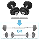 papababe Adjustable Dumbbells Cast Iron with Connector 40 50 65 105 200, Adjustable Dumbbell Sets, Lifting Dumbells. (25, Pair)