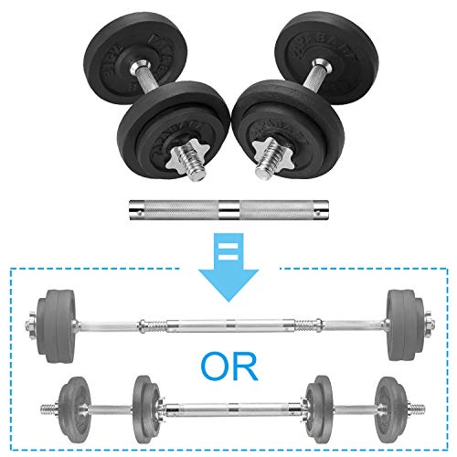 papababe Adjustable Dumbbells Cast Iron with Connector 40 50 65 105 to 200 LBS Adjustable Dumbbell Sets Lifting Dumbells 50 Pounds