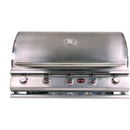 Cal Flame G5 40-Inch 5-Burner Built-in Natural Gas BBQ Grill (Ships As Propane with Conversion Fittings) Gas Grills