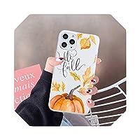 カボチャの幸せな秋の紅葉For iPhone用電話ケースキャンディーカラー67 8 11 12sミニプロXXS XR MAX Plus-a4-iPhoneXSMAX
