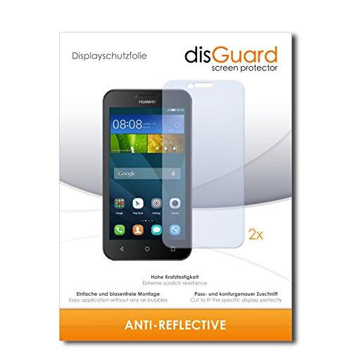 disGuard® Bildschirmschutzfolie [Anti-Reflex] kompatibel mit Huawei Y5 Dual SIM [2 Stück] Entspiegelnd, Matt, Antireflektierend, Extrem Kratzfest, Anti-Fingerabdruck - Panzerglas Folie, Schutzfolie