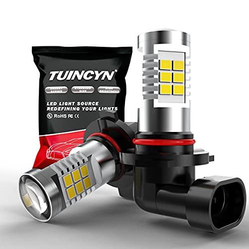 TUINCYN 9005 HB3 Ampoule antibrouillard LED DRL Lampe 2835 21SMD 6500K Blanc xénon LED extrêmement Lumineuse Conduisant des Feux de Jour 10,5 W DC 12 V (Pack de 2)