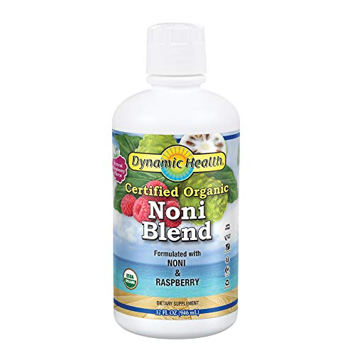 Dynamic Health 946ml Organic Raspberry Flavour Tahitian Noni Juice - Pack of 2