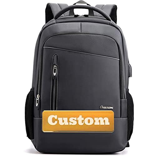 Nome personalizzato Ragazze adolescenti con tascabile 15.6 Zaino per laptop per uomo Port USB Donne School (Color : Huise, Size : One size)