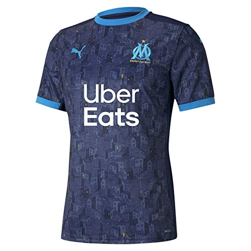 PUMA Om Away T-Shirt Replica with Sponsor Homme, T-Shirt Peacoat-Bleu Azur, FR : S (Taille Fabricant : S)