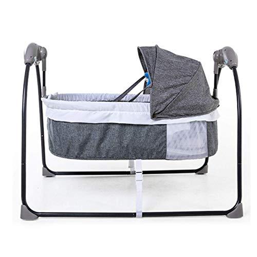 Xinjin Balançoires bébé for bébés, bébé culbuteur électrique léger à 5 Vitesses et 3 minuteries avec oreillers et télécommande, Entretien Facile, 60X90X72CM