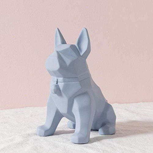 DSENIW QIDOFAN Crafts Dekorationen Art Craft Welpen Tier Dekoration zu Hause Weinkühler Veranda Wohnzimmer Geometrie Geschenk