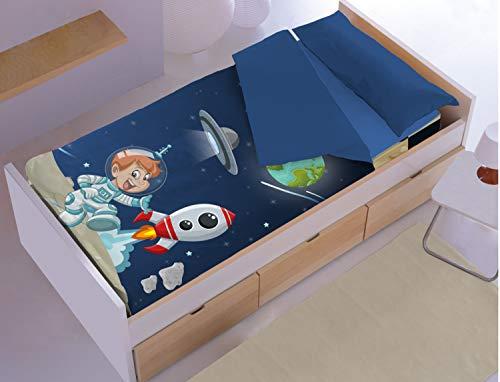 DENISA HOME Saco nórdico Infantil Space. Cama de 90.