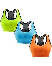 Libella Sportbeha dames bustier gevoerde push-up zonder beugel sportbeha fitness sporttop 3765