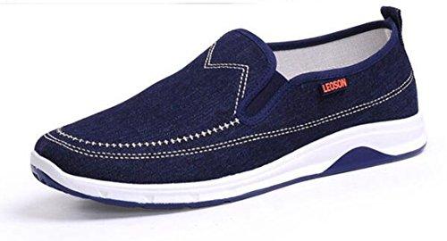 Respeedime Zapatos de lona para hombre de primavera de mediana edad, para verano, casual, para caminar, color Azul, talla 40 2/3 EU