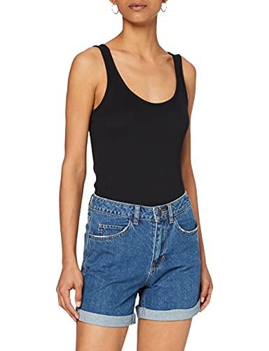 Vero Moda Vmnineteen HR Loose Shorts Mix Noos Pantalones Cortos, Azul (Medium Blue Denim Medium Blue Denim), 40 (Talla del Fabricante: Medium) para Mujer