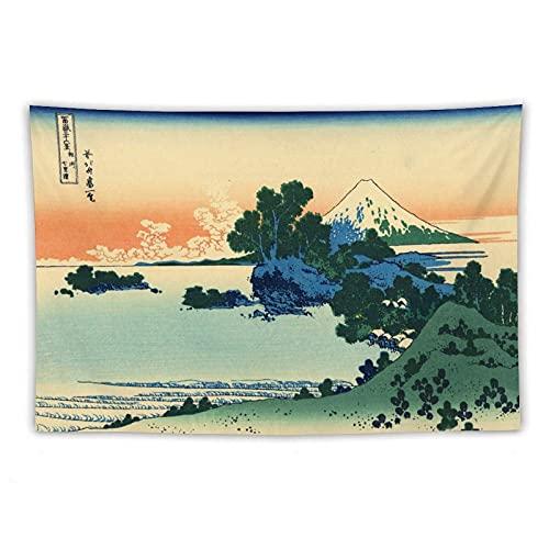 Katsushika Hokusai Posters - Tapiz de arte japonés estético para colgar en la pared para dormitorio, decoración del hogar, arte de pared kawaii para habitación de 156 x 222 cm